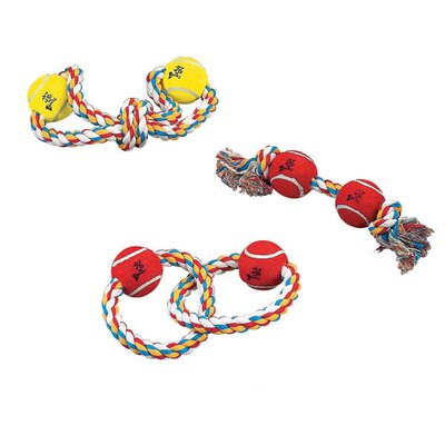 "Zanies 13"" Rope Toys with Tennis Balls"