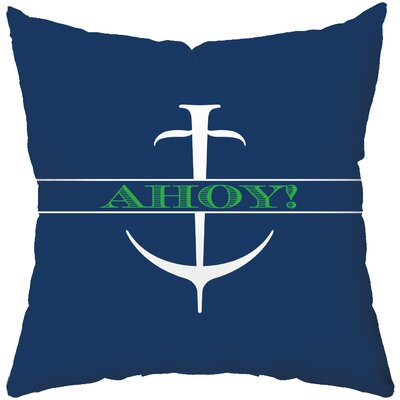 Checkerboard Ahoy Poly Cotton Throw Pillow