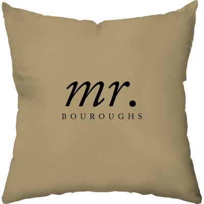 Checkerboard Personalized His Poly Cotton Throw Pillow