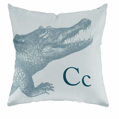 Checkerboard Crocodile Poly Cotton Throw Pillow
