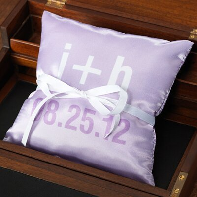 Checkerboard Personalized Moderna Ring Pillow