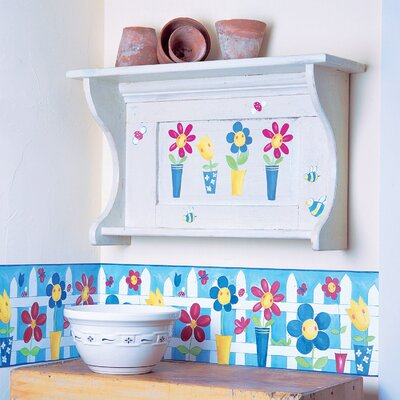 Wallies Silly Flower Pots Wallpaper Cutouts