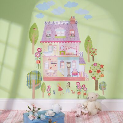 Wallies Play House Interactive Vinyl Peel and Stick Wall Play Mural