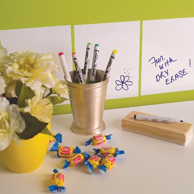 Wallies Dry Erase Squares Peel and Stick Decals