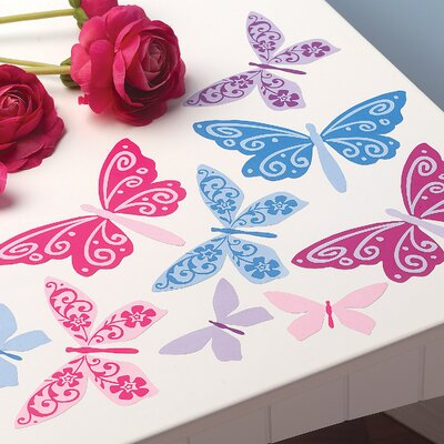 Wallies Flutterbyes Peel and Stick Vinyl Decals