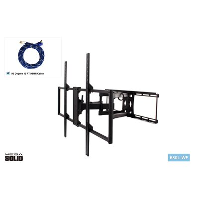 Large Low-Profile Full Motion TV Wall Mount for 37