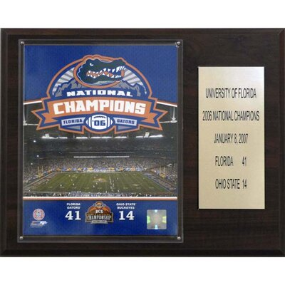 C & I Collectibles NCAA Football Florida 2006 Gators Champions Plaque
