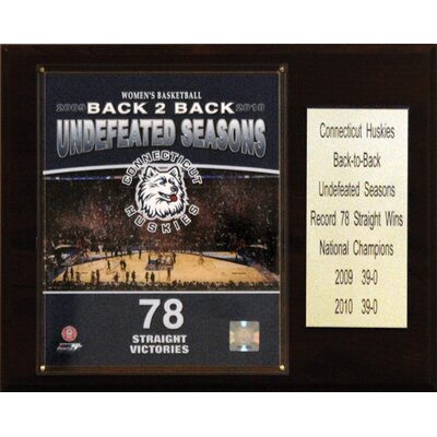 C & I Collectibles NCAA Basketball Connecticut Huskies 2010 Champions Plaque