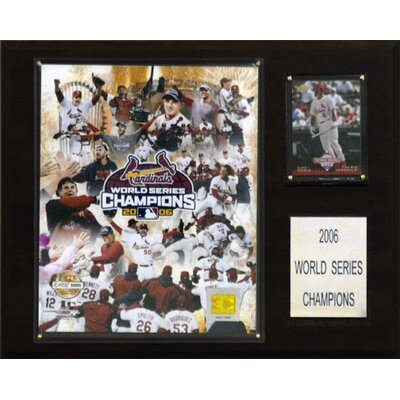 C & I Collectibles MLB St. Louis Cardinals 2006 Limited Edition Champions Plaque