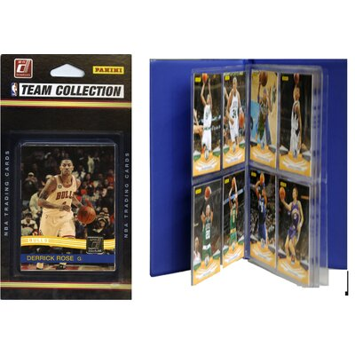 C & I Collectibles NBA Licensed 2010-11 Donruss Team Set Plus Storage Album