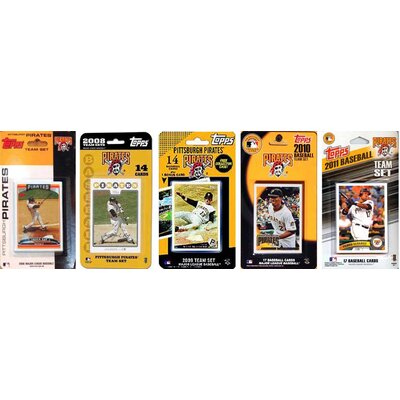 C & I Collectibles MLB 5 Different Licensed Trading Card Team Set From The Last 5 Years