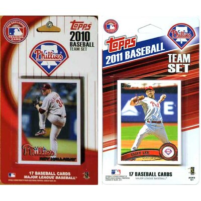 C & I Collectibles MLB Philadelphia Phillies 2 Different Licensed Trading Card Team Set