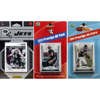 C & I Collectibles NFL Licensed 2011 Score Team Set With Twelve Card 2011 Prestige All-Star and Quarterback Set