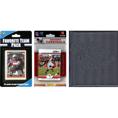 C & I Collectibles NFL Licensed 2012 Score Team Set and Favorite Player Trading Card Pack Plus Storage Album