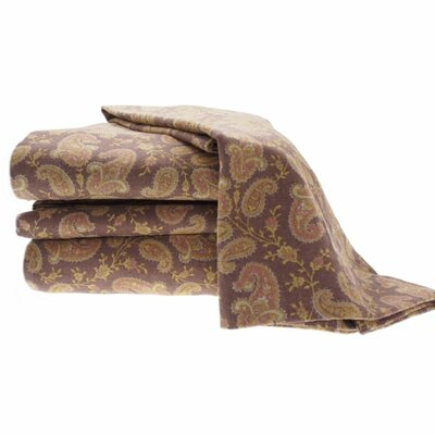 Heather Ground Flannel Paisley Cotton Sheet Set
