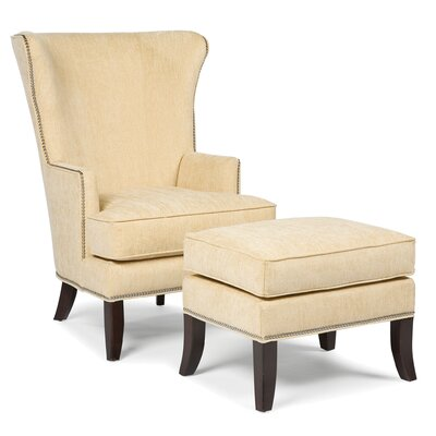 Fairfield Chair Palti Transitional Chair and Ottoman
