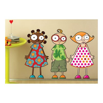 ADZif Ludo Nina, Leo and Louison Wall Decal
