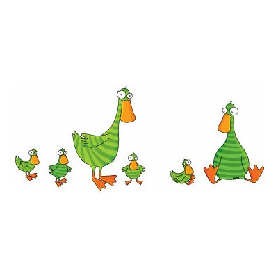 ADZif Ludo Duck and Ducklings Wall Decal