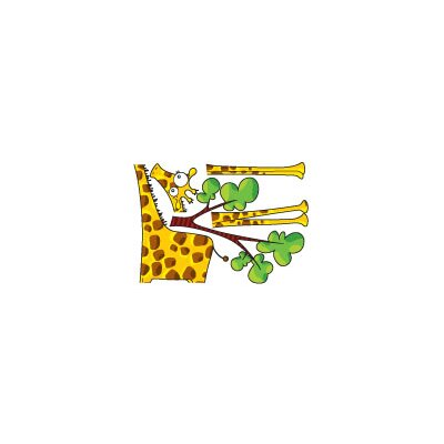 ADZif Ludo Madam Giraffe Wall Decal