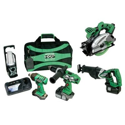 Hitachi 18V 3.0Ah Lithium Ion 5-Tool Combo Kit