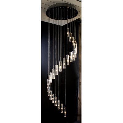 Spirale 25 Light Crafted Chandelier