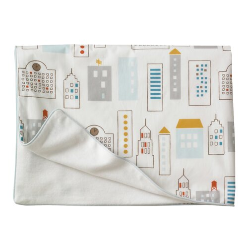 DwellStudio Skyline Stroller Blanket in Light Blue