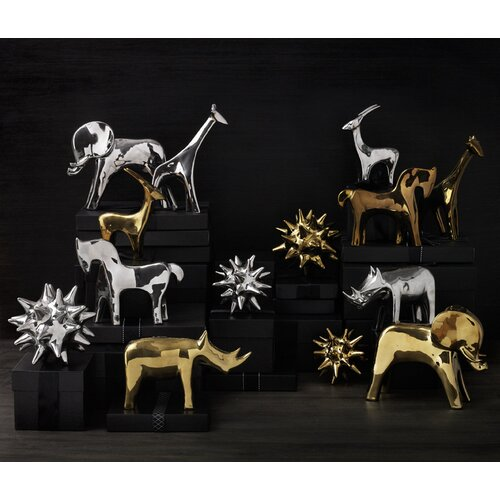 DwellStudio Horse Objet in Silver