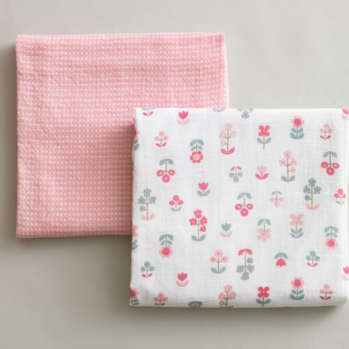 DwellStudio Rosette Blossom Swaddle Blanket (Set of 2)