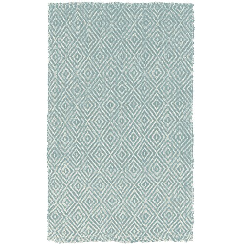 DwellStudio Diamond Jute Slate Blue Rug