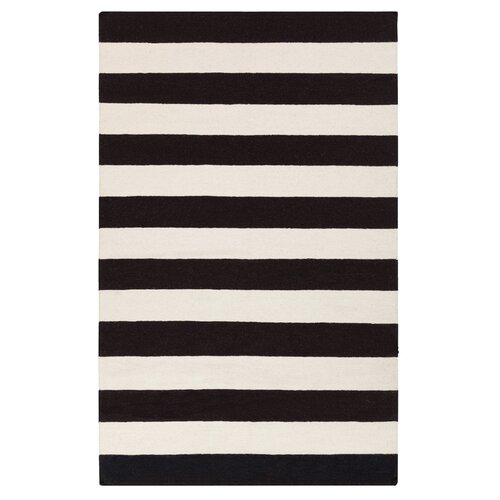 DwellStudio Draper Stripe Black Rug