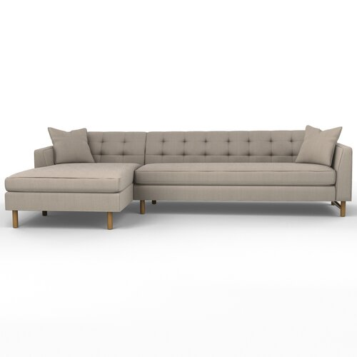 DwellStudio Edward Left Arm Chaise Sectional Sofa