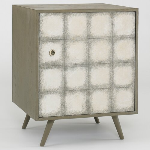 DwellStudio Franklin Side Cabinet in Silver Leaf