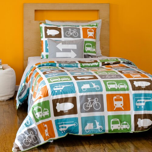 DwellStudio Transportation Multi Duvet Set