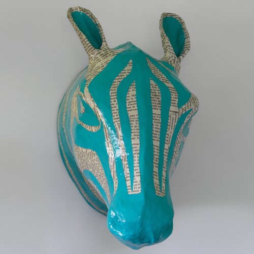 DwellStudio Zebra Sky Papier-Mache Head