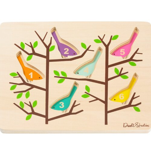 DwellStudio Counting Birds Wooden Puzzle - SOLD OUT