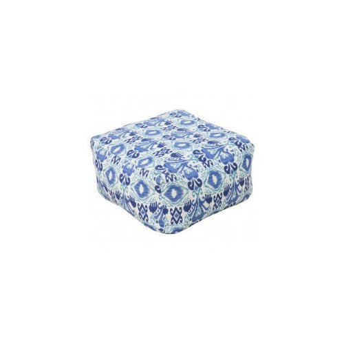 DwellStudio Ikat Blue Outdoor Pouf
