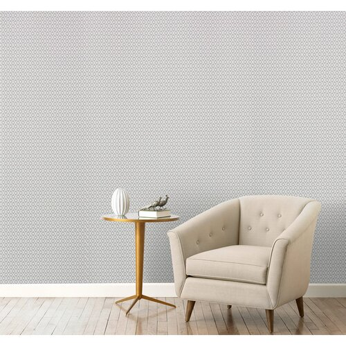 DwellStudio Dotted Diamonds Ash Wallpaper