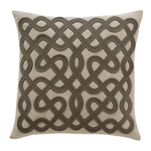 DwellStudio Labyrinth Ash Pillow