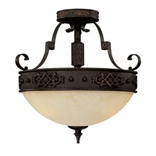 River Crest 3 Light Semi Flush Mount