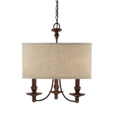 Loft 3 Light Drum Pendant
