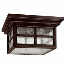 Preston 3 Light Outdoor Flush Mount