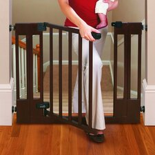 Sure and Secure Deluxe Top Of Stairs Wood Walk-Thru Gate