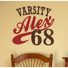 Varsity Personalized Wall Decal