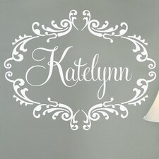 Princess Personalized Frame Wall Decal