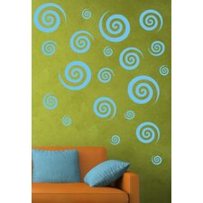 Swirly Swirls Set Vinyl Wall Decal (Set of 30)