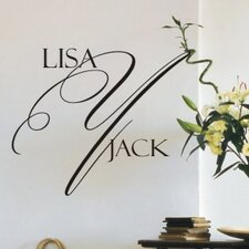 Delightful Monogram Wall Decal