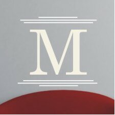 Majestic Monogram Wall Decal
