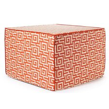 Puzzle Outdoor Ottoman in Orange