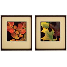 "Vivid Leaves I and II by Unknown Artist Photography Set - 23"" x 25"" (Set of 2)"
