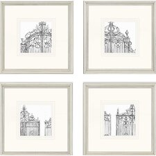 "Gates by Harper Architectural Art - 14"" x 14"" (Set of 4)"